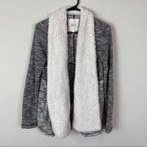 JACK by BB Dakota Faux Shearling Cardigan